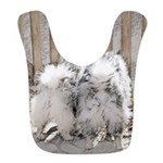 Keeshonds at the Gate Polyester Baby Bib