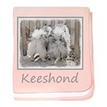 Keeshonds at the Gate baby blanket