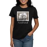 Keeshonds at the Gate Women's Dark T-Shirt