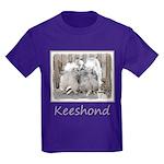 Keeshonds at the Gate Kids Dark T-Shirt