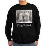 Keeshonds at the Gate Sweatshirt (dark)