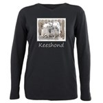 Keeshonds at the Gate Plus Size Long Sleeve Tee