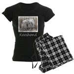 Keeshonds at the Gate Women's Dark Pajamas