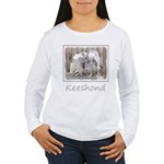 Keeshonds at the Gate Women's Long Sleeve T-Shirt