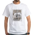 Keeshonds at the Gate White T-Shirt
