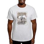 Keeshonds at the Gate Light T-Shirt