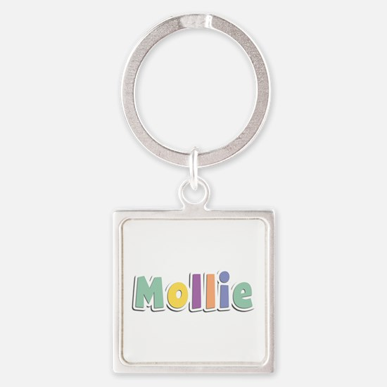 Mollie Spring14 Square Keychain