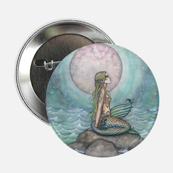"The Pastel Sea Mermaid Fantasy Art 2.25"" Button"