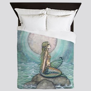 The Pastel Sea Mermaid Fantasy Art Queen Duvet