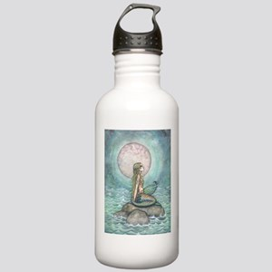 The Pastel Sea Mermaid Fantasy Art Water Bottle