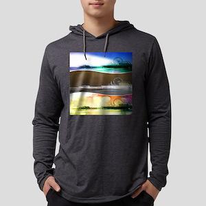 Santa Monica Pier Tricolor Long Sleeve T-Shirt
