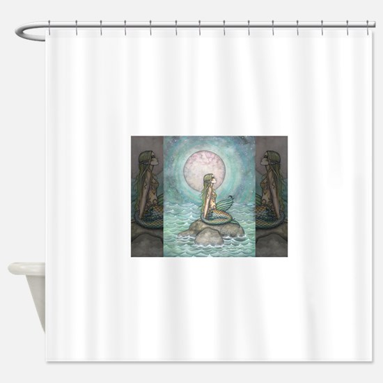 The Pastel Sea Fantasy Art Shower Curtain