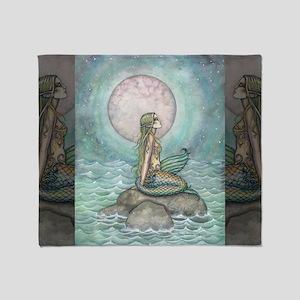 The Pastel Sea Fantasy Art Throw Blanket
