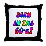 1960's, 60s Throw Pillow