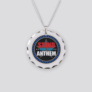 Stand for the Anthem Necklace Circle Charm