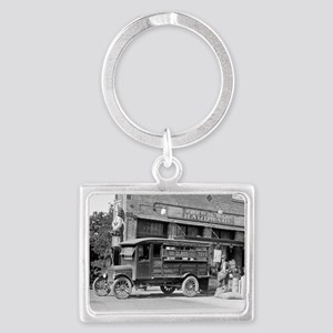 Hardware Store Delivery Truck,  Landscape Keychain