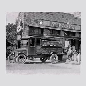 Hardware Store Delivery Truck, 1924 Throw Blanket