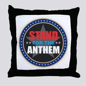 Stand for the Anthem Throw Pillow