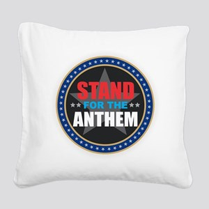 Stand for the Anthem Square Canvas Pillow
