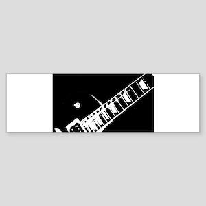 guitar neck stamp black and white Bumper Sticker