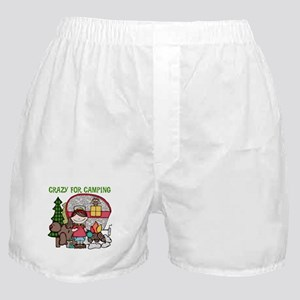 Girl Crazy For Camping Boxer Shorts