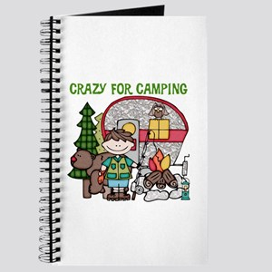 Boy Crazy For Camping Journal
