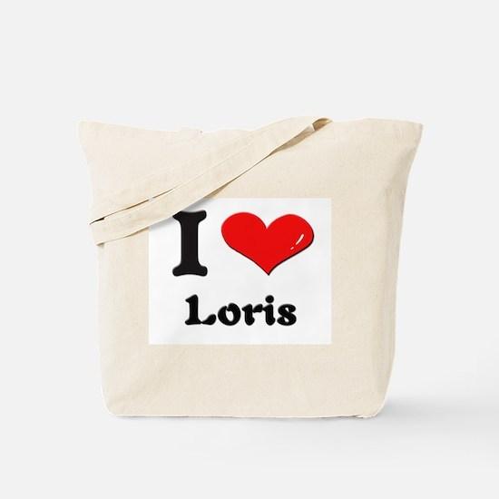 I love loris Tote Bag