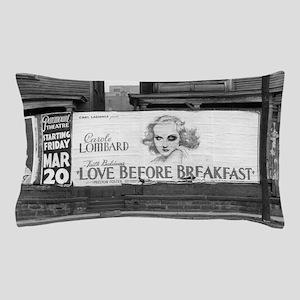 Movie Billboard, 1936 Pillow Case
