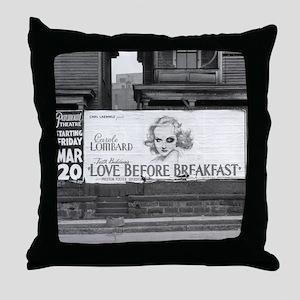 Movie Billboard, 1936 Throw Pillow