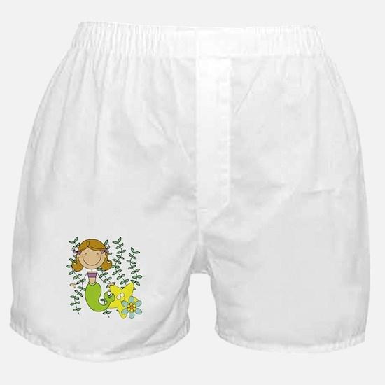 Brown Mermaid Boxer Shorts