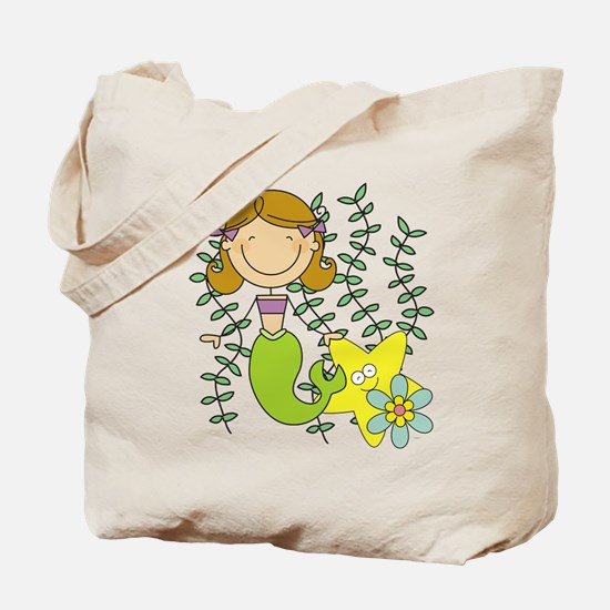 Brown Mermaid Tote Bag
