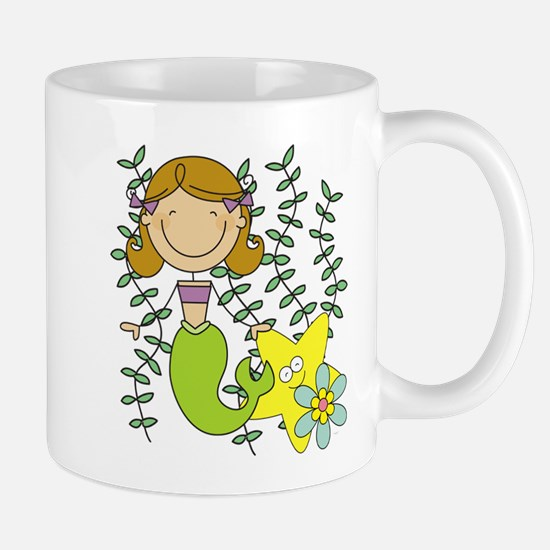 Brown Mermaid Mug