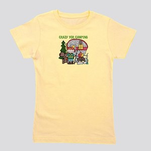 Boy Crazy For Camping Girl's Tee