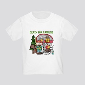 Boy Crazy For Camping Toddler T-Shirt