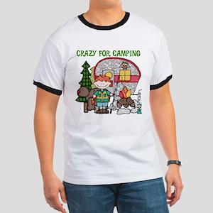 Boy Crazy For Camping Ringer T