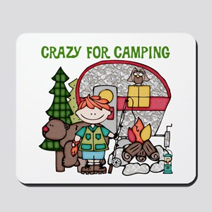Boy Crazy For Camping Mousepad