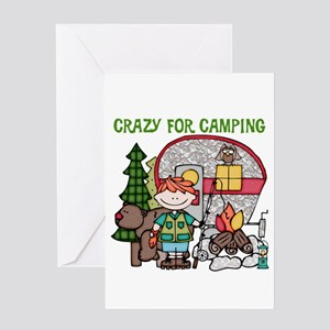 Boy Crazy For Camping Greeting Card