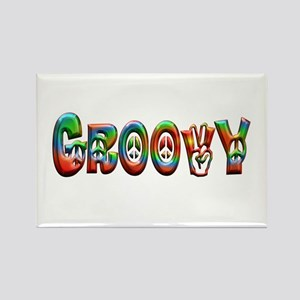 GROOVY Rectangle Magnet