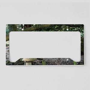 stone lantern License Plate Holder
