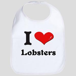 I love lobsters  Bib