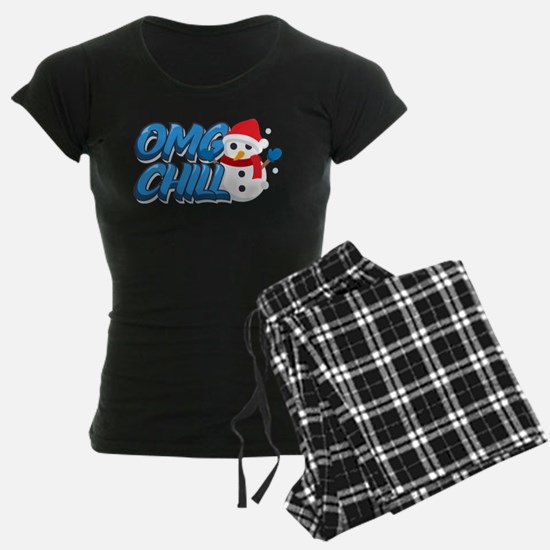 Emoji OMG Chill Snowman Pajamas