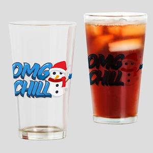 Emoji OMG Chill Snowman Drinking Glass