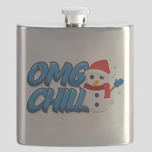 Emoji OMG Chill Snowman Flask