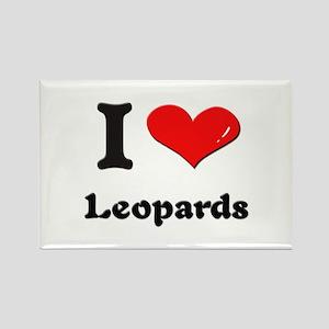 I love leopards Rectangle Magnet