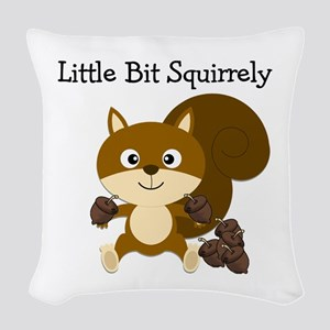 Squirrely Woven Throw Pillow