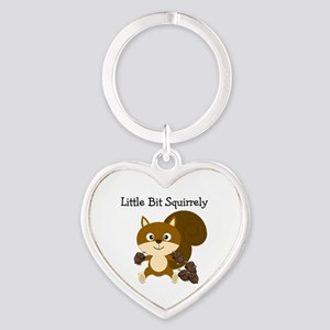 Squirrely Heart Keychain