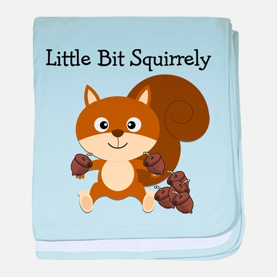 Squirrely baby blanket