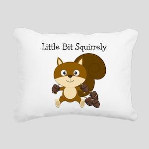 Squirrely Rectangular Canvas Pillow