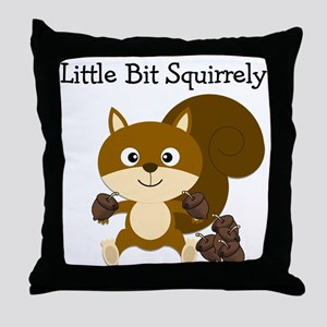 Squirrely Throw Pillow
