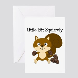 Squirrely Greeting Card